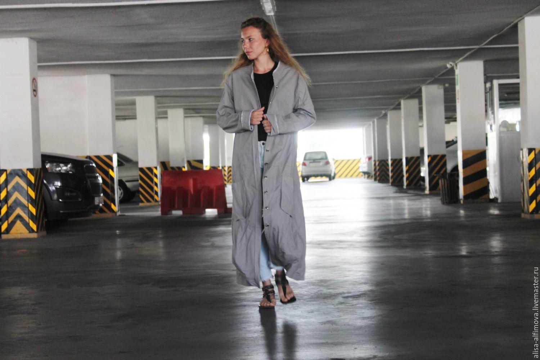 """Верхняя одежда ручной работы. Ярмарка Мастеров - ручная работа. Купить Плащ - пальто на лето """"ДЖИТА"""" в бохо стиле. Handmade."""