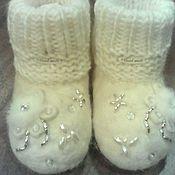 """Обувь ручной работы. Ярмарка Мастеров - ручная работа Валеночки """" Нарядные """" для малышей.. Handmade."""