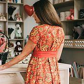 """Платья ручной работы. Ярмарка Мастеров - ручная работа Нарядное яркое платье в пол """"Хохлома"""". Handmade."""