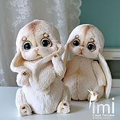 Куклы и игрушки ручной работы. Ярмарка Мастеров - ручная работа крошки зайки. Handmade.