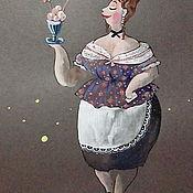 Картины и панно ручной работы. Ярмарка Мастеров - ручная работа Шоколадное мороженное. Handmade.
