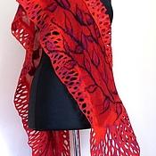 Аксессуары handmade. Livemaster - original item Carmen - felted silk tippet. Handmade.