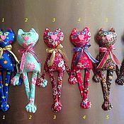 Куклы и игрушки ручной работы. Ярмарка Мастеров - ручная работа Котишки -магнитики 4 )). Handmade.