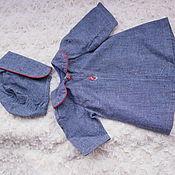 Винтаж ручной работы. Ярмарка Мастеров - ручная работа винтажный комплект для куклы : пальто и шапочка. Handmade.