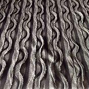 Материалы для творчества handmade. Livemaster - original item Fabric knitwear volumetric waves cut W 130 x d 62. Handmade.