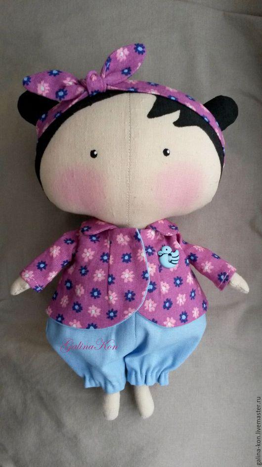 Куклы Тильды ручной работы. Ярмарка Мастеров - ручная работа. Купить куколка Лилу. Handmade. Фиолетовый, кукла, тильды, для детей
