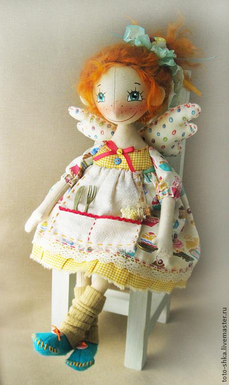 """Коллекционные куклы ручной работы. Ярмарка Мастеров - ручная работа. Купить """"Пироженка"""" - Кухонная фейка. Handmade. Рыжий, рыжий ангел"""