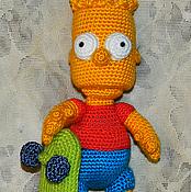 Куклы и игрушки ручной работы. Ярмарка Мастеров - ручная работа Барт Симпсон. Вязаная игрушка. Handmade.