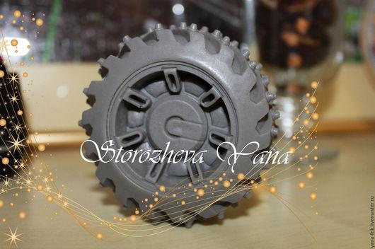 Мыло ручной работы. Ярмарка Мастеров - ручная работа. Купить Подарок для мужчины мыло колесо. Handmade. Темно-серый