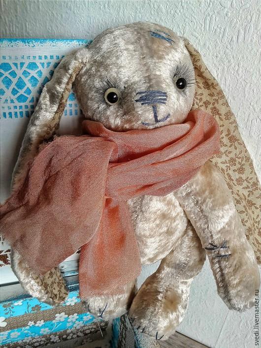 """Мишки Тедди ручной работы. Ярмарка Мастеров - ручная работа. Купить Тедди зая"""" Снежана"""". Handmade. Бежевый, плюш для тедди"""