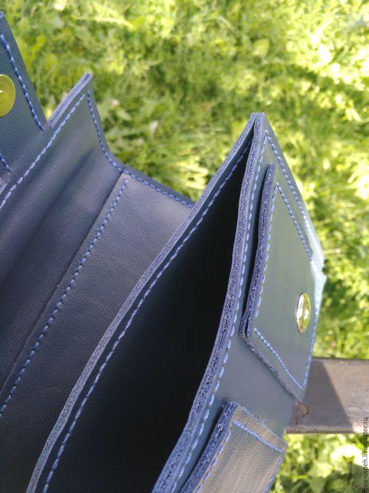 Мужские сумки ручной работы. Ярмарка Мастеров - ручная работа. Купить Сумка кожаная ручной работы. Handmade. Тёмно-синий