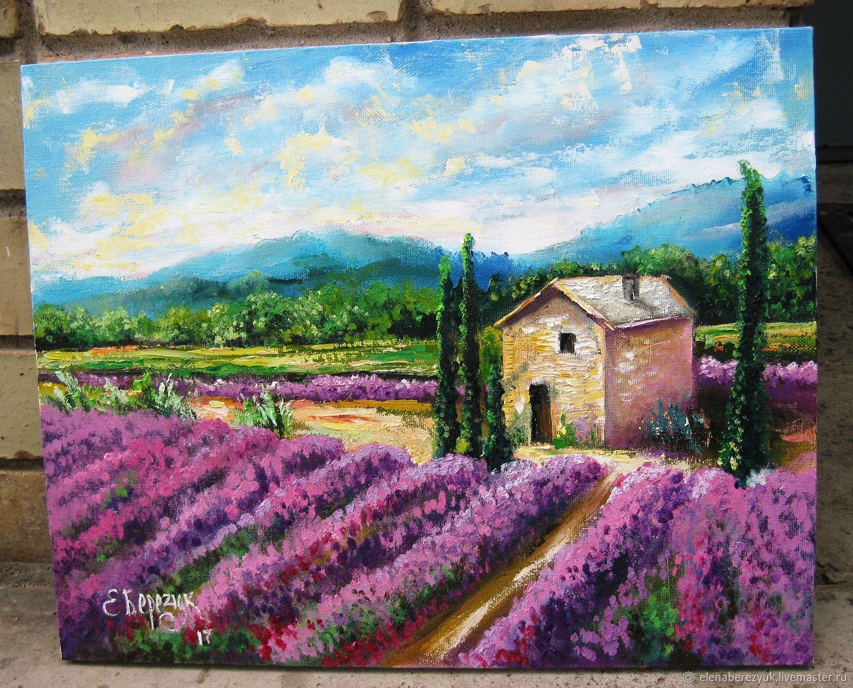 Lavender Oil Painting