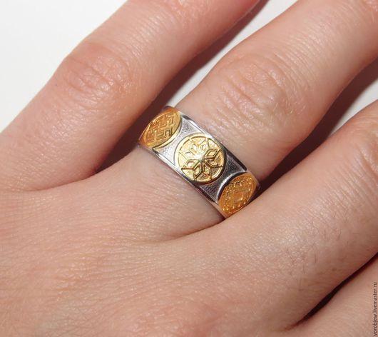 Кольца ручной работы. Ярмарка Мастеров - ручная работа. Купить Славянское кольцо, серебро 925, мощный оберег. Handmade.