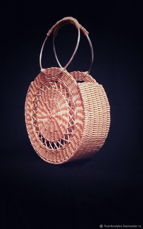 Оригинальная плетённая сумка_бумажная лоза_ручная работа_Fisenko