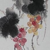 Картины и панно ручной работы. Ярмарка Мастеров - ручная работа картинаДождь и виноград(китайская живопись суми-э фен-шуй). Handmade.