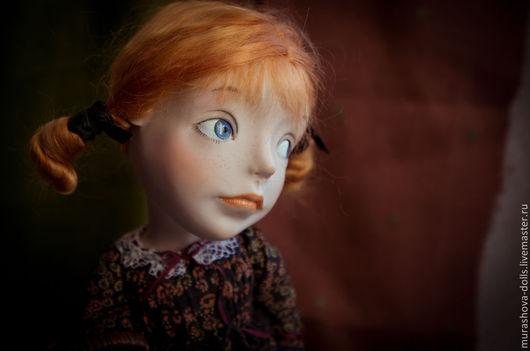 Коллекционные куклы ручной работы. Ярмарка Мастеров - ручная работа. Купить Рыжая с корзинкой. Handmade. Коричневый, livingdoll