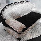 Doll furniture handmade. Livemaster - original item Furniture for dolls: Sofa for doll 50 - 70 centimeters. Handmade.