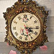 Для дома и интерьера handmade. Livemaster - original item Watch,Rose, wall clock. Handmade.