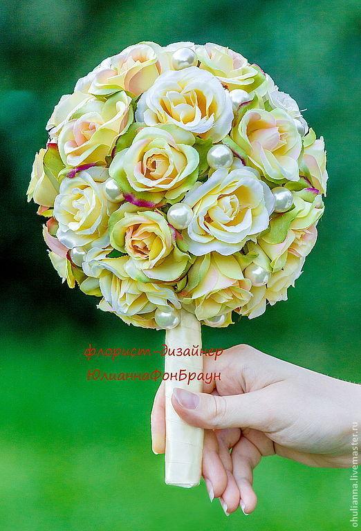 """Свадебные цветы ручной работы. Ярмарка Мастеров - ручная работа. Купить букет невесты """"краски лета"""". Handmade. Свадьба"""