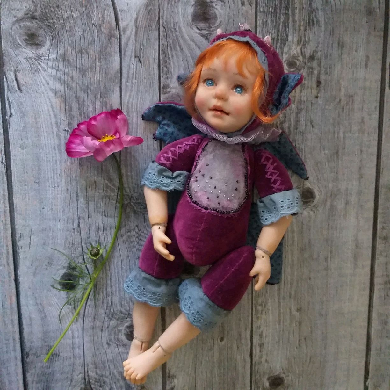 Тедди долл Дракончик. Авторская кукла, Куклы и пупсы, Екатеринбург,  Фото №1