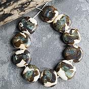 Материалы для творчества manualidades. Livemaster - hecho a mano Sueltos de perlas de color cherepahovyj. Handmade.