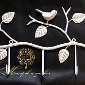 Для дома и интерьера handmade. Livemaster - original item Hanger wrought iron Bird. Handmade.
