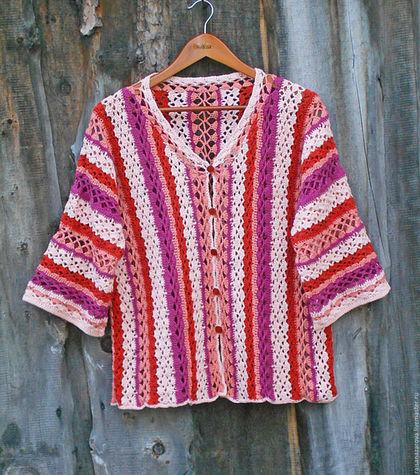 Кофты и свитера ручной работы. Ярмарка Мастеров - ручная работа. Купить Вязаный кардиган в стиле бохо Тепло осени. Handmade.