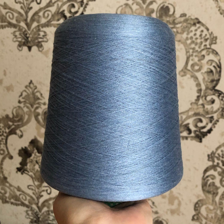 Вязание ручной работы. Ярмарка Мастеров - ручная работа. Купить Servizi e seta art. Shappe шелк натуральный 100% сине -голубой. Handmade.