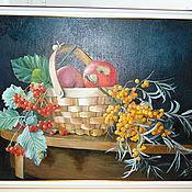 Картины и панно ручной работы. Ярмарка Мастеров - ручная работа Натюрморт с облепихой. Handmade.