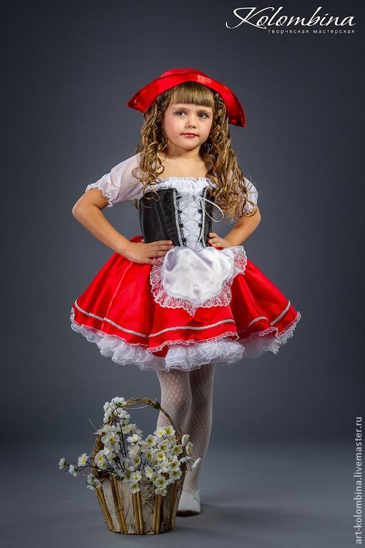 Карнавальные костюмы ручной работы. Ярмарка Мастеров - ручная работа. Купить Костюм Красной шапочки. Handmade. Ярко-красный