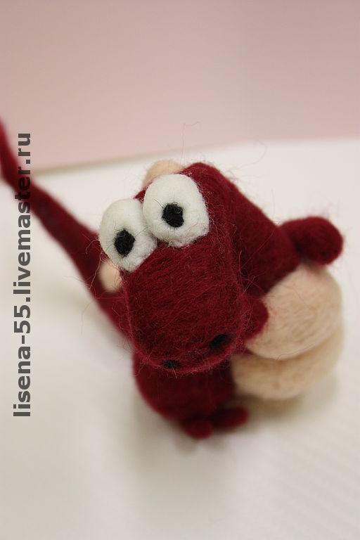Animal Toys handmade. Livemaster - handmade. Buy Dragon Cherry.Gift, felted dragon, felted toy