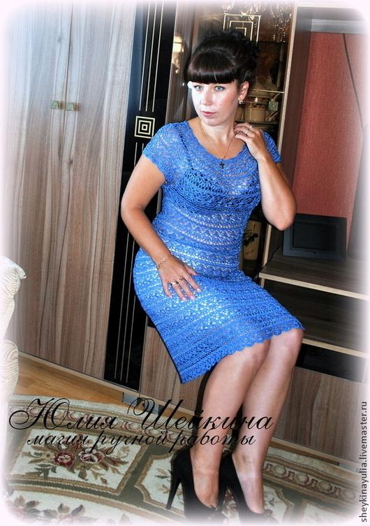 """Платья ручной работы. Ярмарка Мастеров - ручная работа. Купить Вязаное платье крючком Вязаное платье """"Лилия"""". Handmade."""