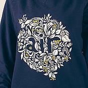 Одежда ручной работы. Ярмарка Мастеров - ручная работа Толстовка - свитшот с росписью Air. Handmade.