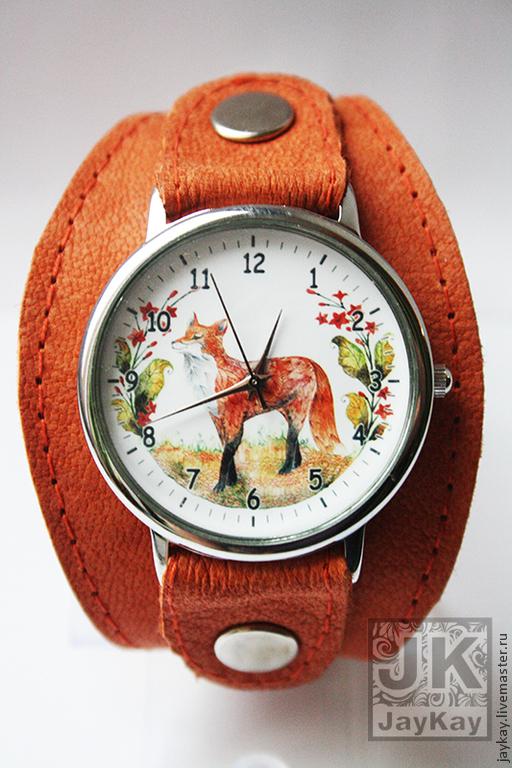 "Часы ручной работы. Ярмарка Мастеров - ручная работа. Купить Часы наручные JK ""Лисичка"". Handmade. Наручные часы, часы"