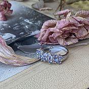 Винтаж handmade. Livemaster - original item The Muse of Montparnasse. Ring. Tanzanites. Diamonds.. Handmade.