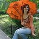 """Зонты ручной работы. Ярмарка Мастеров - ручная работа. Купить """"Веселые котята """" зонтик с рисунком ручная роспись на заказ. Handmade."""