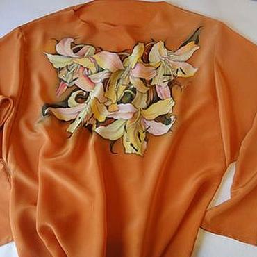 Одежда ручной работы. Ярмарка Мастеров - ручная работа Блуза Осенние лилии. Handmade.