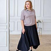 Одежда handmade. Livemaster - original item Set of Powder color polo shirt Size Plus size and floor length skirt. Handmade.