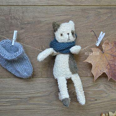 Куклы и игрушки ручной работы. Ярмарка Мастеров - ручная работа Кот, котик, котяра - игрушка антистресс, карманный друг. Handmade.