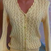 Одежда ручной работы. Ярмарка Мастеров - ручная работа ажурная кофта. Handmade.