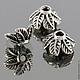 Шапочки для бусин в тибетском стиле листья для использования в сборке украшений\r\nМатериал сплав\r\nЦвет античное серебро