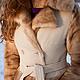 Верхняя одежда ручной работы. Пальто с отделкой норкой. Наталья Воронцова (shubeiki). Ярмарка Мастеров. Мех натуральный, ткань