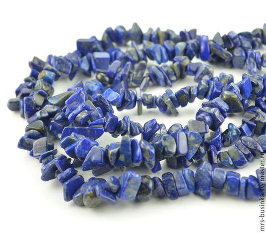 Для украшений ручной работы. Ярмарка Мастеров - ручная работа. Купить Лазурит, каменная крошка (85 см). Handmade. Синий