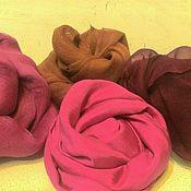 """Ткани ручной работы. Ярмарка Мастеров - ручная работа """"Летние фантазии""""-набор шелка для валяния. Handmade."""