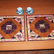 Для дома и интерьера ручной работы. Ярмарка Мастеров - ручная работа Салфетки кофейные. Handmade.