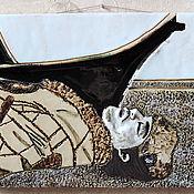 Картины и панно ручной работы. Ярмарка Мастеров - ручная работа Уильям Блейк (керамическое панно со стеклом). Handmade.
