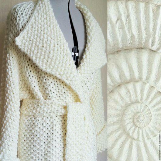 Верхняя одежда ручной работы. Ярмарка Мастеров - ручная работа. Купить Пальто вязаное  ЭГОИСТКА длинное. Handmade. Пальто