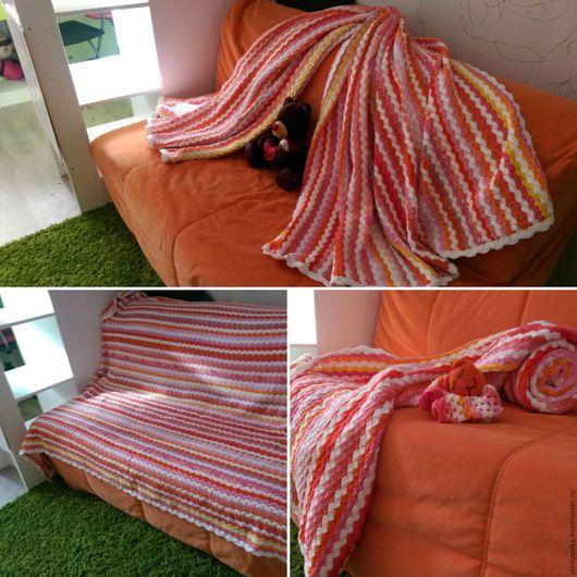 Пледы и одеяла ручной работы. Ярмарка Мастеров - ручная работа. Купить Одеяло плед покрывало. Handmade. Комбинированный, покрывало на диван