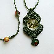 Украшения handmade. Livemaster - original item Copyright handmade jewelry pendant made of epoxy resin macrame 32. Handmade.