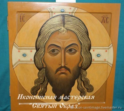 SAVED by non-man-made icon, Lord, Savior, Christ, walnut, Icons, Krasnodar,  Фото №1